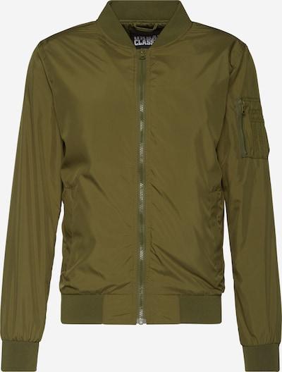 Urban Classics Tussenjas 'Light Bomber Jacket' in de kleur Olijfgroen, Productweergave