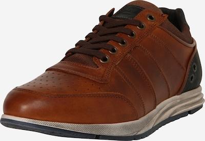 BULLBOXER Sneaker in navy / cognac: Frontalansicht