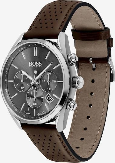 BOSS Zegarek analogowy 'CHAMPION' w kolorze ciemnobrązowy / srebrnym, Podgląd produktu
