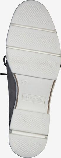 TAMARIS Schnürschuh in greige / graumeliert: Ansicht von unten