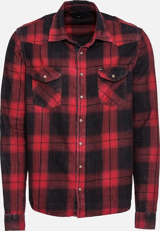 Overhemd Rood Zwart.In Overhemd Ltb Rohan Zwart Rood Whnpe7