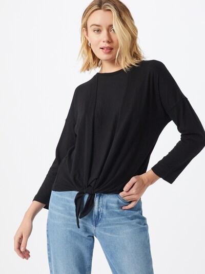 Banana Republic Pullover 'LS COTTON SLUB TIE FRONT' in schwarz, Modelansicht