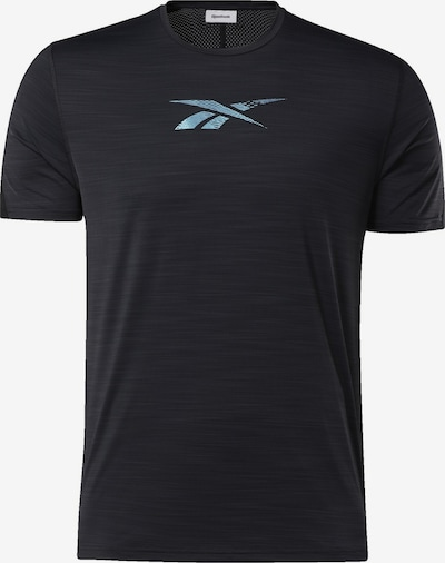 REEBOK T-Shirt in rauchblau / schwarz, Produktansicht