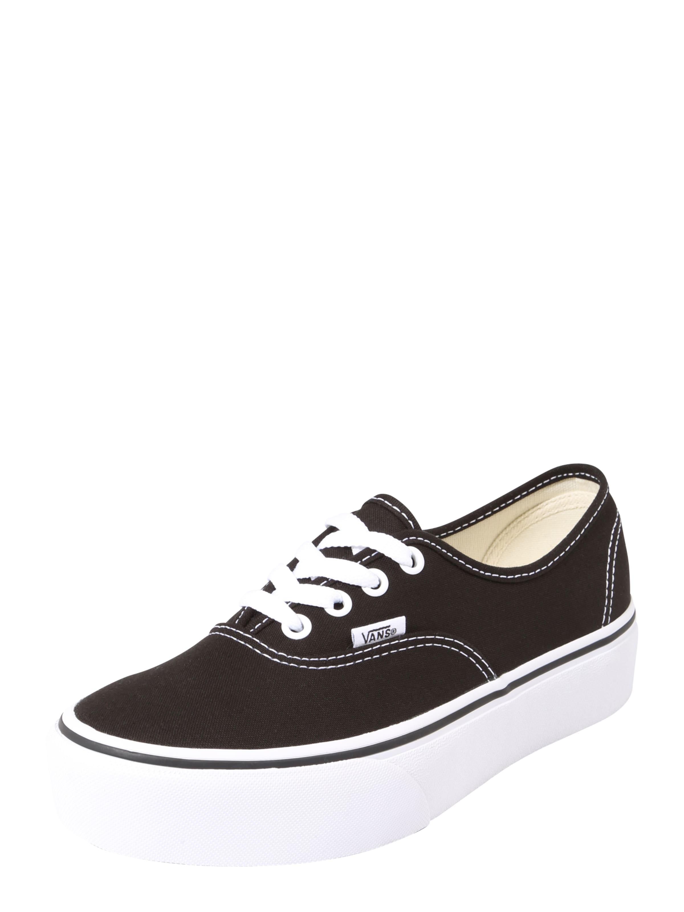 Chaussures Vans Plate-forme D'authentification De Couche 2,0 « Noir / Blanc