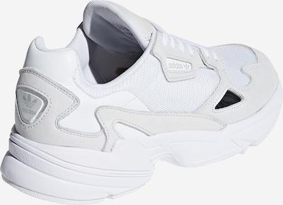 ADIDAS ORIGINALS Sneaker 'Falcon' in hellgrau / weiß: Rückansicht