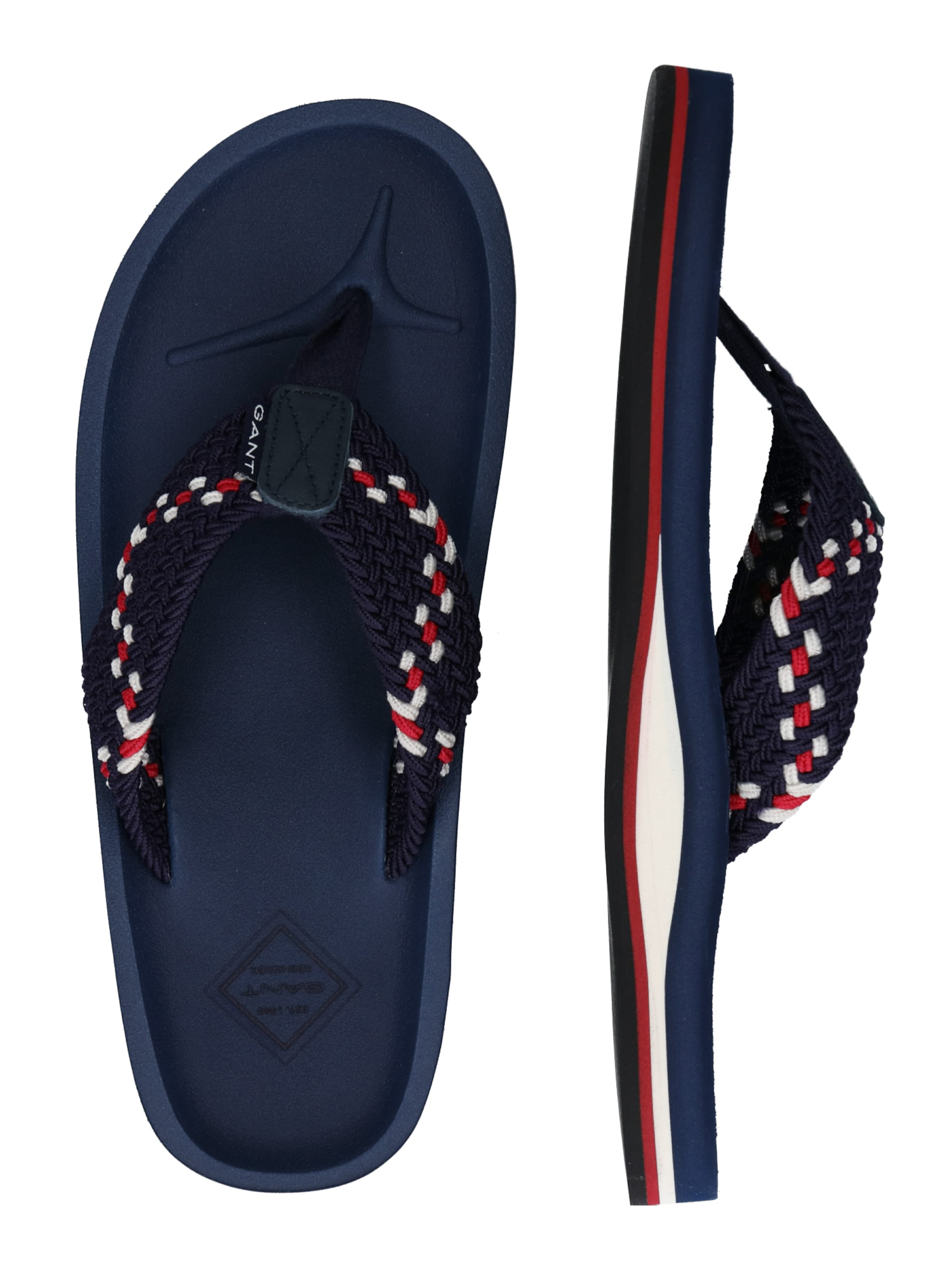 DunkelblauRot In Gant Weiß 'breeze' Slipper CQrsthd