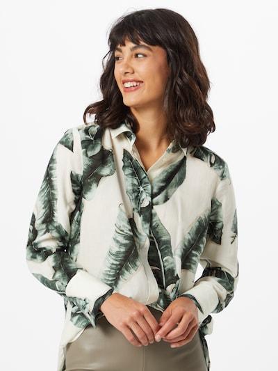 Bluză MINE TO FIVE pe ecru / verde închis: Privire frontală