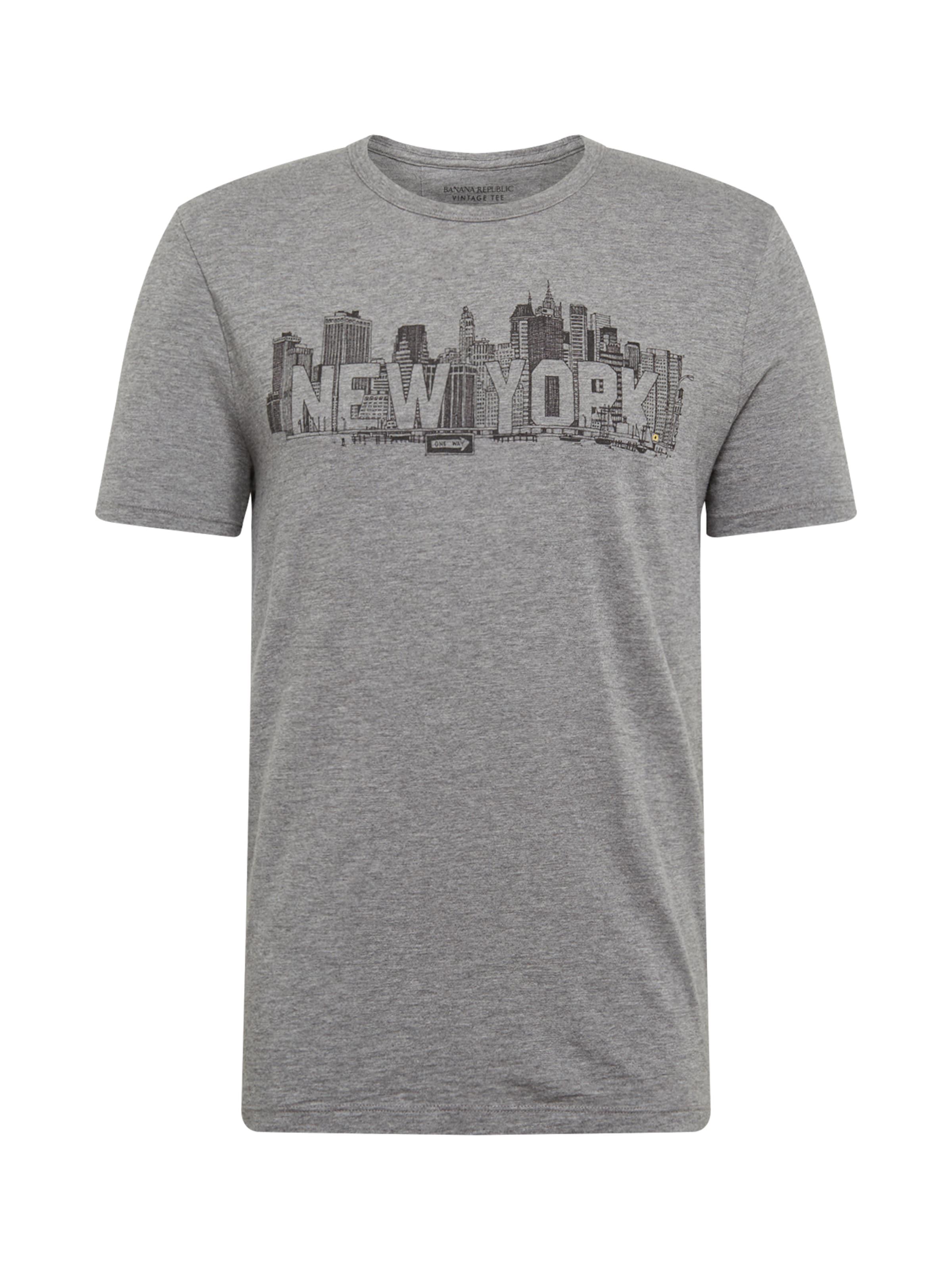 Banana 'location York New Tee' Shirt Grau Graphic In Republic Ivb6gY7mfy