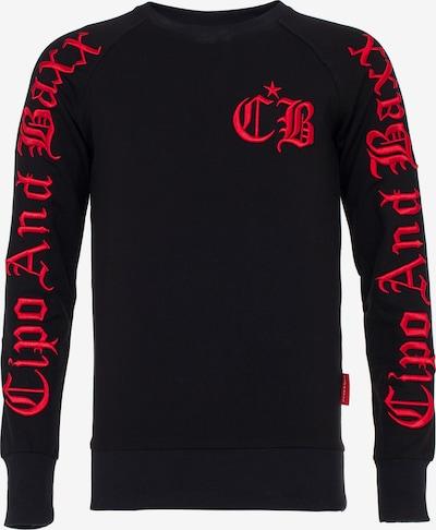 CIPO & BAXX Sweatshirt in de kleur Lichtrood / Zwart: Vooraanzicht