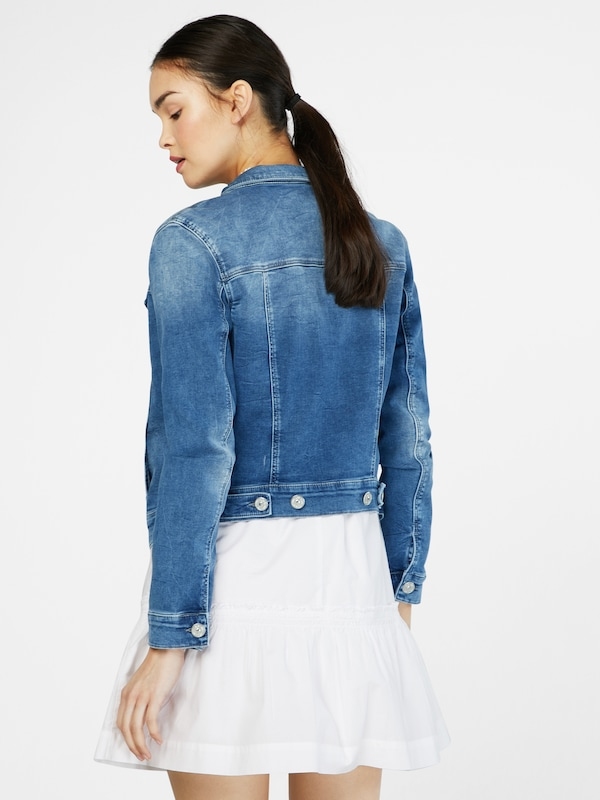 Mavi Jeansjacke Damen in blue denim: Rückansicht