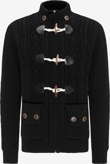 DREIMASTER Strickjacke 'Vintage' in schwarz, Produktansicht