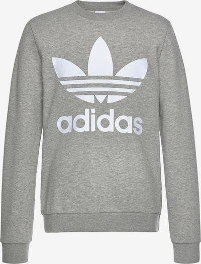 ADIDAS ORIGINALS Sweater majica 'Trefoil Crew' u siva melange / bijela, Pregled proizvoda