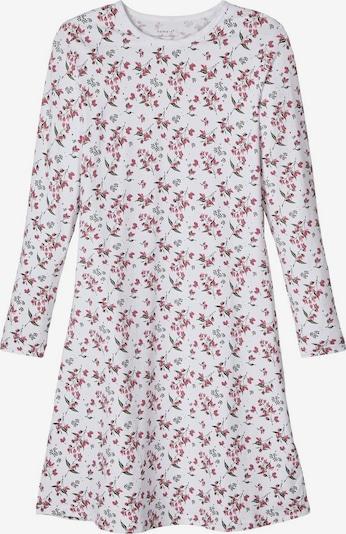 NAME IT Nachthemd in basaltgrau / pastellrot / weiß, Produktansicht