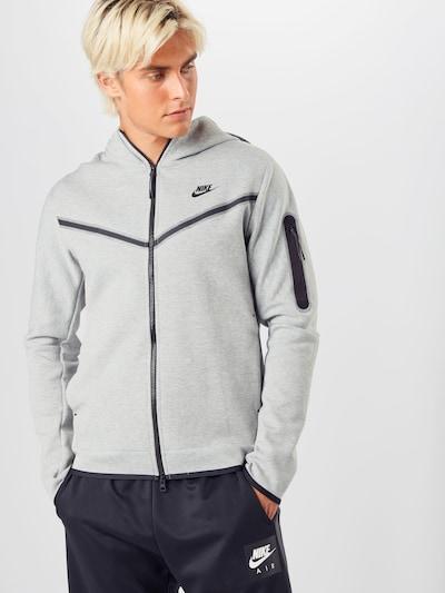 Nike Sportswear Функционално яке в сиво / черно, Преглед на модела