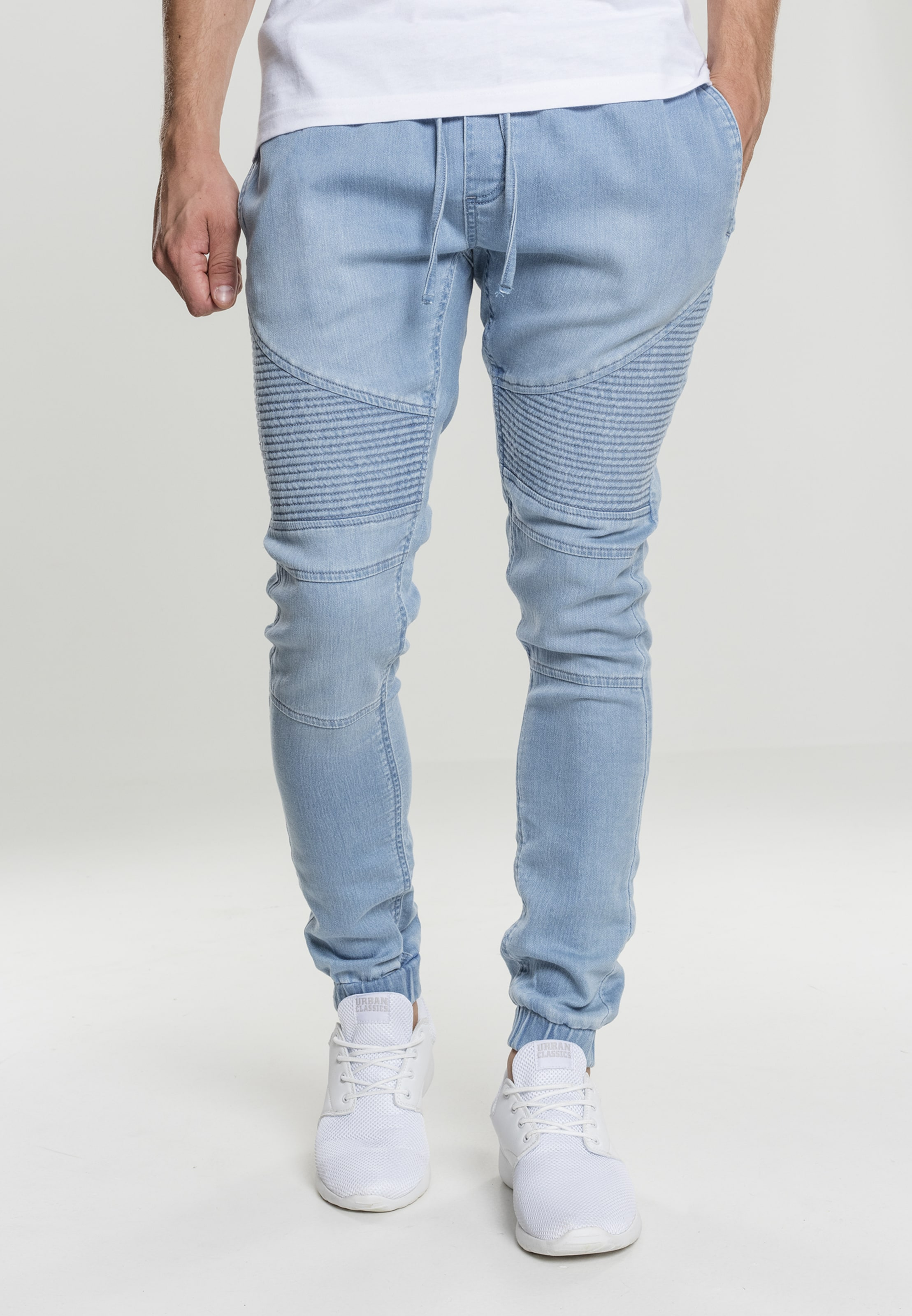 Urban 'biker' In Classics Denim Blue Sweatpants drhQBtsCx
