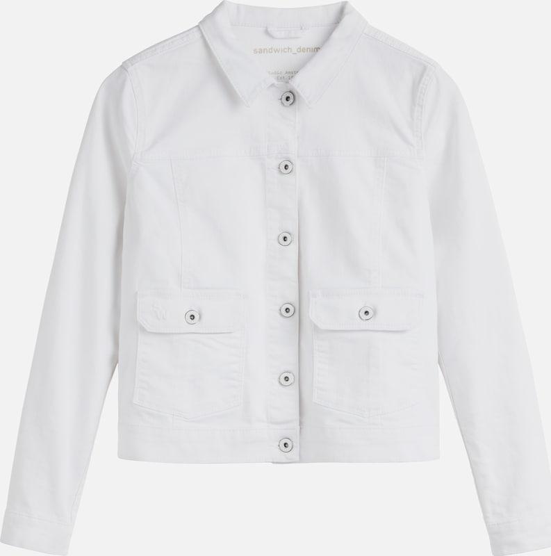Sandwich Jacket in Weiß denim  Großer Rabatt