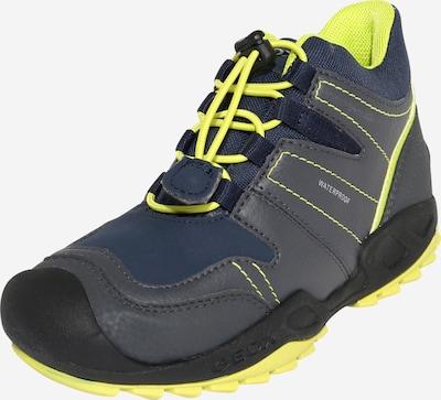 GEOX Schuhe 'SAVAGE' in navy / neongelb / dunkelgrau, Produktansicht