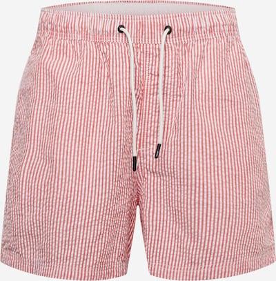 JACK & JONES Badeshorts in rosa / weiß, Produktansicht