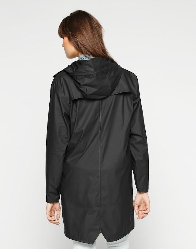 RAINS Long-Mantel mit Kapuze