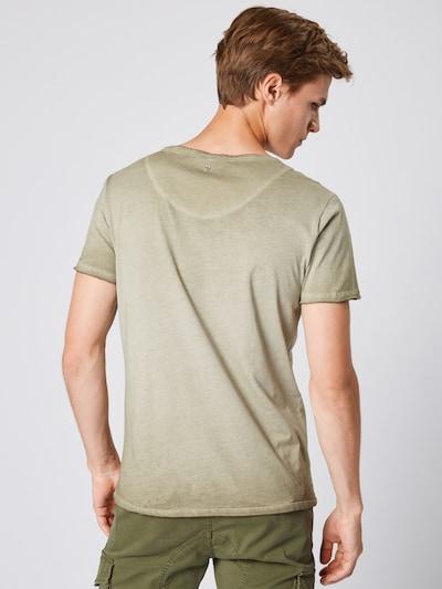 Key Largo T-Shirt 'MT BEARDED BIKDER' en kaki: Vue de dos