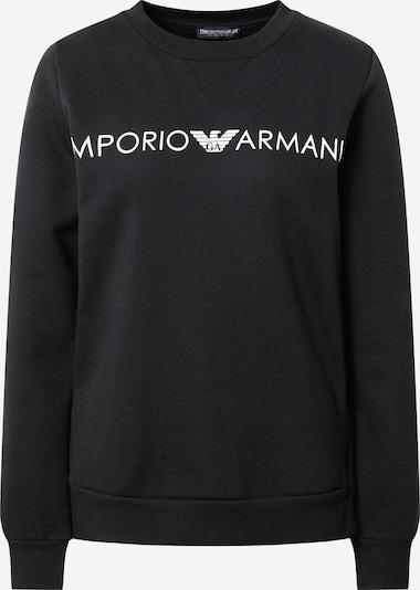 Bluză de molton 'TERRY' Emporio Armani pe negru / alb, Vizualizare produs