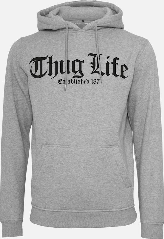 Mister Tee Hoody 'Thug Life Old English' in graumeliert   schwarz  Markenkleidung für Männer und Frauen