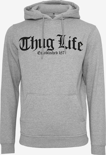 Mister Tee Hoody 'Thug Life Old English' in graumeliert / schwarz: Frontalansicht
