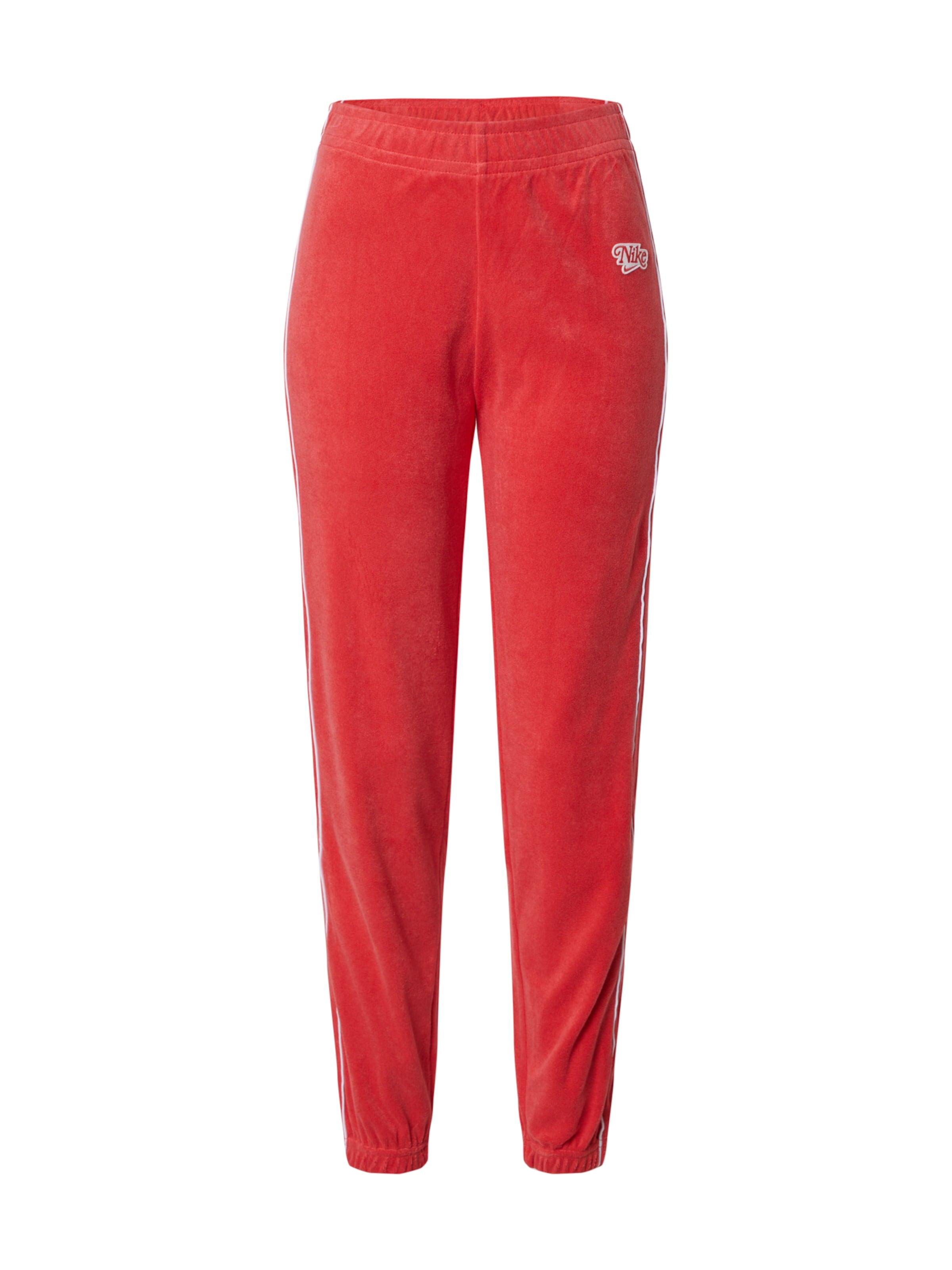 Nike Sportswear Byxa 'TERRY' i röd