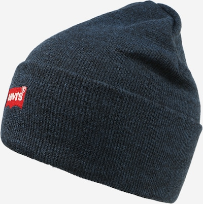 LEVI'S Beanie in Night blue / Red / White, Item view