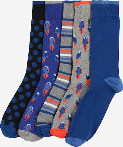 Kojinės 'BRIGHT ROCKET' iš BURTON MENSWEAR LONDON , spalva - tamsiai mėlyna / pilka / šviesiai raudona, Prekių apžvalga