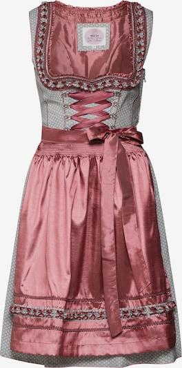 MARJO Dirndl 'Navina' in grau / pink, Produktansicht