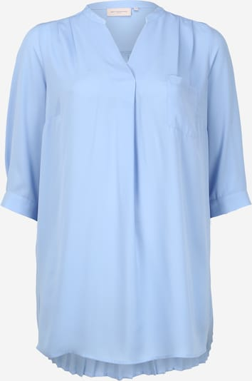 ONLY Carmakoma Blouse 'CARFELIA 3/4 LONG PLISSE TOP' in de kleur Blauw, Productweergave