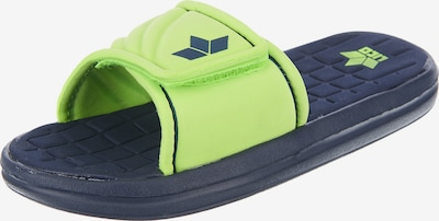 LICO Badelatschen 'BARRACUDA' in blau / neongrün, Produktansicht
