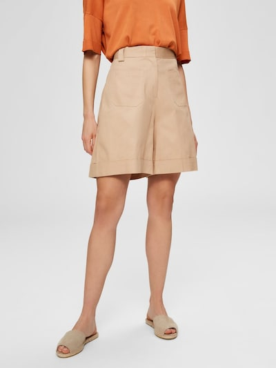 SELECTED FEMME Shorts in beige: Frontalansicht