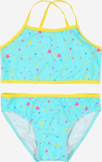 NAME IT Bikini 'Zummers' in türkis / gelb / pink, Produktansicht
