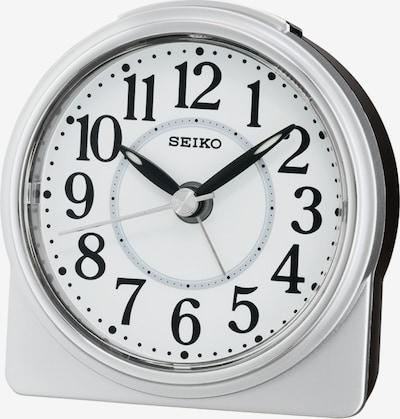 SEIKO Wecker in silber / weiß, Produktansicht