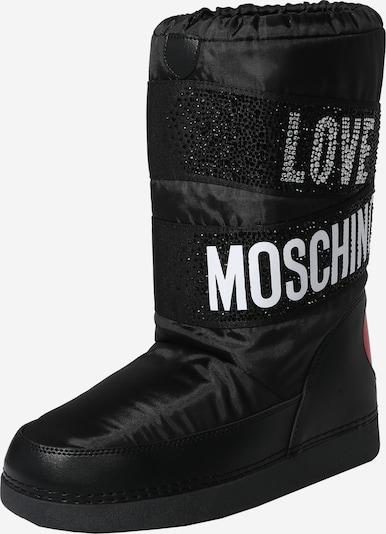 Love Moschino Snöboots i svart / vit, Produktvy