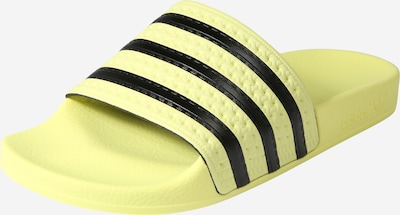 ADIDAS ORIGINALS Adilette in pastellgelb / schwarz, Produktansicht