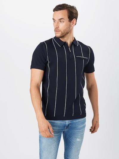 River Island T-Shirt en bleu marine / blanc: Vue de face