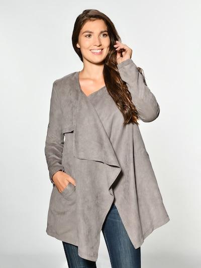 Maze Between-Seasons Coat 'Pula' in Dark grey, View model