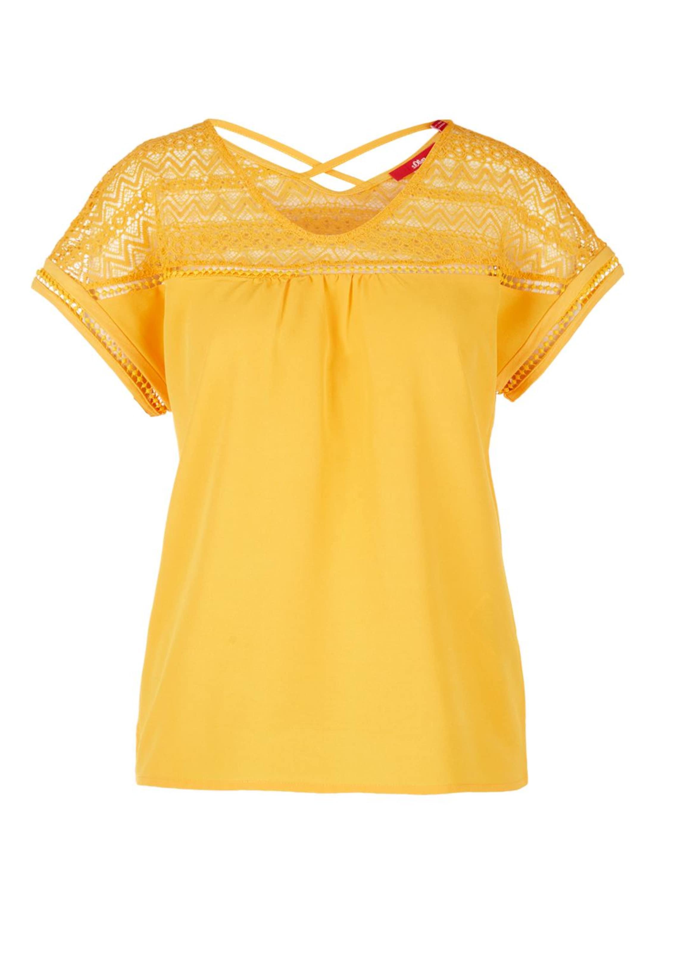oliver Label S Gelb In Red Blusenshirt m8Nn0w