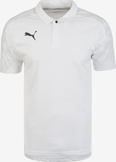 PUMA Poloshirt  'Cup Sideline' in hellgrau / schwarz / weiß, Produktansicht