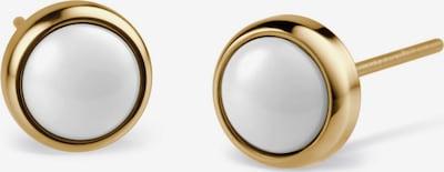 BERING Ohrstecker in gold / weiß, Produktansicht