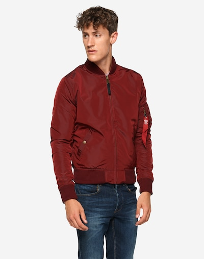 ALPHA INDUSTRIES Bomberjacke 'MA-1 TT' in bordeaux: Frontalansicht