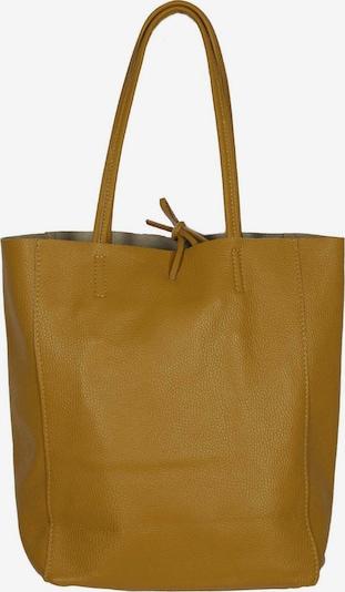 Zwillingsherz Shopper in de kleur Mosterd, Productweergave