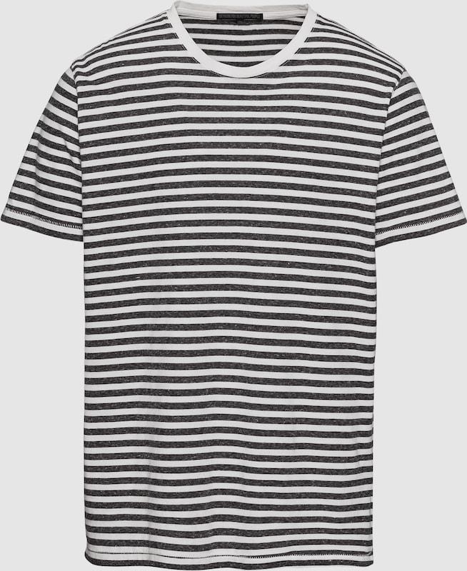 DRYKORN Shirts 'SAMUEL' in dunkelgrau   weiß  Freizeit, schlank, schlank