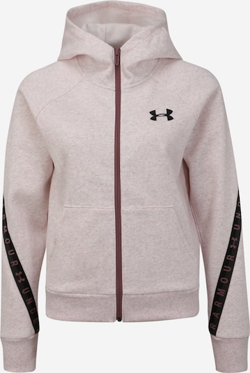 UNDER ARMOUR Sweatjacken 'Fleece Taped WM FZ Hoodie' in rosa, Produktansicht