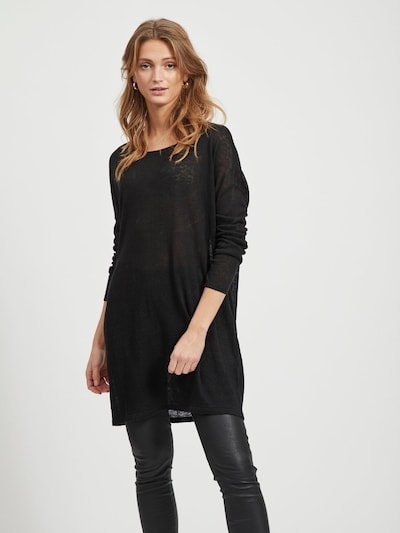 VILA Oversize Tunika in schwarz, Modelansicht