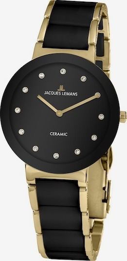 Jacques Lemans Quarzuhr '42-7K' in gold / schwarz, Produktansicht