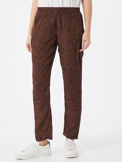 Pantaloni eleganți SET pe maro / negru, Vizualizare model
